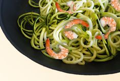 Zucchini Ribbons with Shrimp, 8-Week Blood Sugar Diet, Michael Mosley