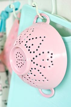 Heart Colander~❥  I should have this !!!  It is not only pink, but has hearts too.