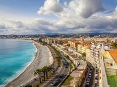 Stroll along the Promenade des Anglais in Nice in the south of France. Nice France, South Of France, Places In Europe, Places To Visit, Promenade Des Anglais, Travel General, Travel Log, European Travel, Travel Destinations