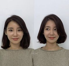Haircuts Straight Hair, Short Bob Hairstyles, Pretty Hairstyles, Hair Color Streaks, Hair Color Dark, Asian Hair Bob, Short Hair Korean Style, Donating Hair, Shot Hair Styles