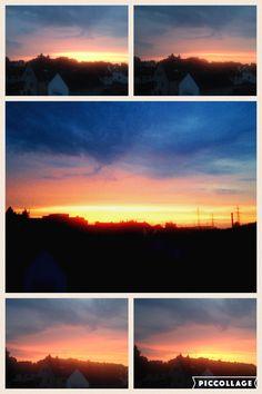 Abendhimmel über Köln- Sonnenuntergang (22.Juni 2016)