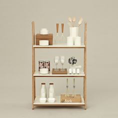One Step Up Bookcase Low White