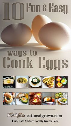 """""""10 Fun Easy Ways to Cook Eggs""""... Fun? Maybe at least easy."""