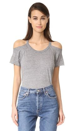 Chaser Cold Shoulder Raglan Tee