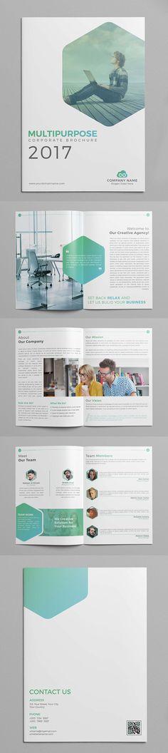 Multipurpose Company Profile Brochure Template #annualreport #booklet #brochuredesign #brochuretemplates #fashioncatalog #portfolio