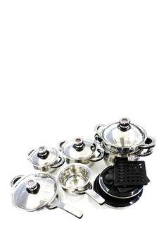 Zurich Swissler Royal Cookware Silver 17-Piece Set