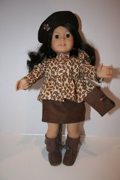 American Girl doll Clothes  Gingerbread Print by KathiesDollCloset, $13.99