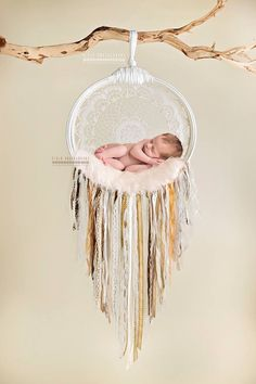 Newborn dreamcatcher. Handmade shabby chic