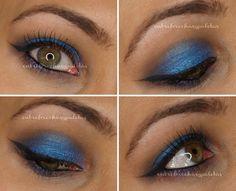 Maquillaje en azules | Zao makeup y Fyrinnae