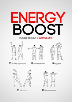 Energy Boost is a workout designed to help you wake up your body. Gym Workouts, At Home Workouts, Daily Workouts, Weight Gain Plan, Weight Loss, Band Workout, Darebee, Cool Yoga Poses, Fitness Motivation Pictures