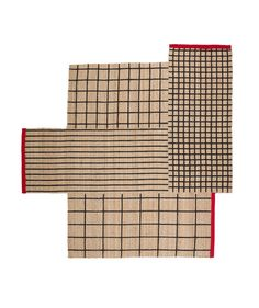 This IKEA rug's unique shape—it looks like various rugs are stacked together, but it's actually one piece—makes it easy to work with any kind of furniture setup.