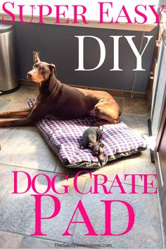 Dog beds and dog crate pads can be so expensive and if you have a bed sucker like I do, it can get expensive fast. Because of the bottomless money pit known as my dogs, I started sewing my own crate pads. This tutorial is for a super easy DIY dog crate pad, but you can easily turn it into a...