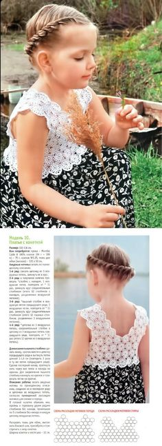 lovely girls top + diagram ♪ ♪ ... #inspiration #crochet #knit #diy GB http://www.pinterest.com/gigibrazil/boards/