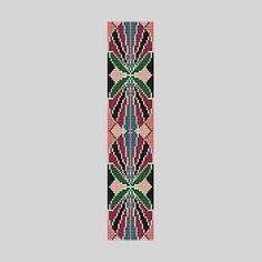 loom beading patterns bracelets | Loom Pattern - Art Nouveau Cuff Bracelet | BeadholdenDesigns ...