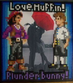 Plunder Bunny Monkey Island Frame, via Etsy.  Awwww!  This is the game that made me and my lovey the bestest of friends.