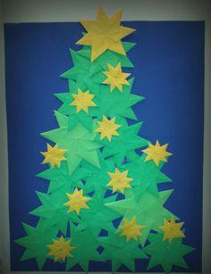 Kerstboom met groep 8 gemaakt.
