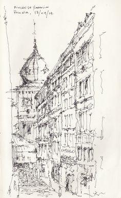 Croquis - Varsovia - por Facundo Alvarez