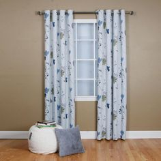 Drapes & Curtains - Best Home Fashion - Flower Printed Grommet Curtain – Oxeme Home