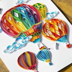 *** Quilling – the magic of paper strips! *** / *** Quilling – the magic of paper … Arte Quilling, Paper Quilling Patterns, Quilled Paper Art, Quilling Paper Craft, Quilling Ideas, Paper Folding Crafts, Quilling Comb, Quilling Letters, Paper Quilling Tutorial