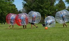 Groupon - $ 100 for Two-Hour Zorb Ball Party for Up to 10 from Zorbies Bumper…