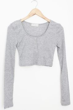 """- Details - Size - Shipping - • 75% Polyester 25% Cotton • Ribbed long sleeve crop top • Hand Wash • Line dry • Imported • Measured from small • Length 15"""" • Chest 13"""" • Waist 12"""" - Free domestic ship"""