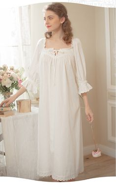 Frock For Women, Night Dress For Women, Cute Sleepwear, Sleepwear Women, Vintage Nightgown, Vintage Dresses, Night Gown Dress, Cute Pajama Sets, Dresses For Pregnant Women