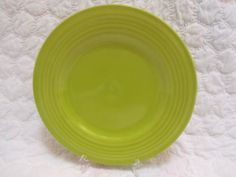 Pottery Barn Lime Green Sausalito Ridge Dinner Plate Potterybarn | eBay