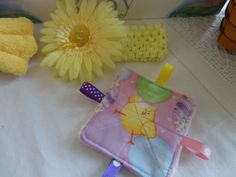 Baby Girl Toys taggy toys crinkle toy with by Sassydoodlebaby, $4.99
