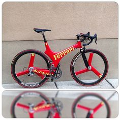 Ferrari bicycle from colnago with campagnolo super record 11 speed groupset | Flickr - Photo Sharing!