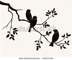Birds on twig by Gizele, via Shutterstock