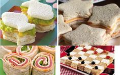 Children kitchen with fun foods Party Food Menu, Party Snacks, Cute Food, Good Food, Tapas, Childrens Meals, Picnic Birthday, Popular Birthdays, Tea Sandwiches