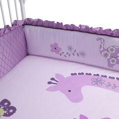 Lambs & Ivy 'Lavender Jungle' Cot Bumper via The Little Furniture Co.