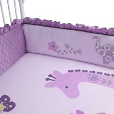 Lambs & Ivy 'Lavender Jungle' Cot Bumper via The Little Furniture Co.