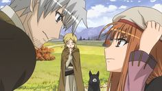 Spice and Wolf - Holo and Kraft Lawrence Spice And Wolf Holo, Blue Springs Ride, Fairy Tail Funny, Pokemon, Wolf Love, Anime Wolf, Chica Anime Manga, Anime Fairy, Neon Genesis Evangelion