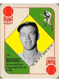 1951 Topps Gil McDougald, New York Yankees, 1951 A.L. Rookie of the Year, Baseball Cards That Never Were