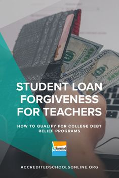 Loan forgiveness programs can help teachers eliminate their student debt. Learn how these programs work and see if you're eligible for loan forgiveness. Student Loan Forgiveness, Mortgage Tips, Student Loan Debt, Online Courses, Free Courses, Online College, Scholarships For College, Teacher Resources, Teaching