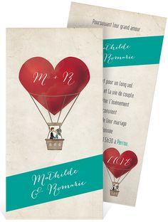 Faire part mariage sur le thème du voyage et de l'amour pour convier vos proches à votre union, ref N22138