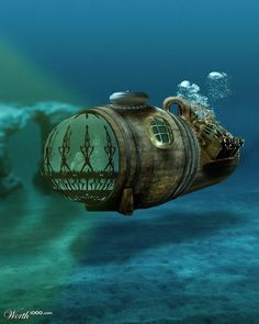 Rum barrel Steam-marine.