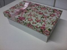 DICAS - Caixas decoradas com tecidos/Patchcolagem | Como fazer artesanato