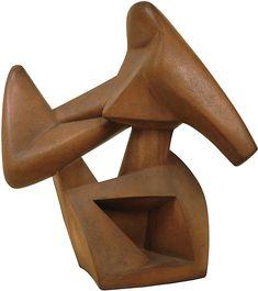 "Alexander Archipenko ""Boxing"" terracotta 1935, bronze 1914"