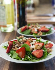 Spinach and Strawberry Salad with Feta