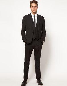 ASOS Slim Fit Suit in black