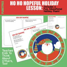 Draw and Write Christmas Holidays Thoughtful Activity to Help kids learn to think out of the gift box and to think about others this holiday! Writing Drawing Construction Activity:KIDS get to:Read the exclusive OH OH Santa PoemFill Out The Ho-Ho-Hopeful Wish List Fill Out Their Favorite things Abou...