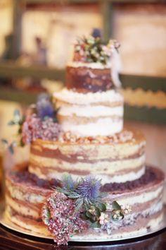 Naked cake |Simply Bloom Photography | see more on: http://burnettsboards.com/2014/06/stylish-vintage-wedding-manhattan/ #cake #weddingcake #nakedcake