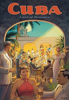 Cuba:  Land of Romance supper club poster