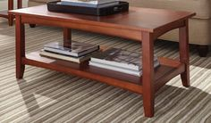 Shaker Cottage Square Coffee Table Cherry Finish, Alaterre