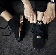 Adi Zx Gold & Black