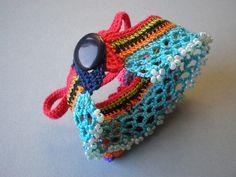 Kitsch - Flowers Freeform Crochet Cuff by irregular expressions, via Flickr