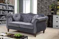 """The Upholstered Sofa Measures 34"""" x 79.5"""" x 34"""", and Weighs 117 Lbs. And Arrives With an Easy Assembly. #frenchcountrysofa"""