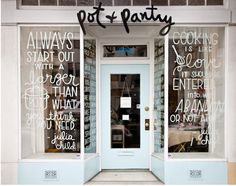 writing on store windows